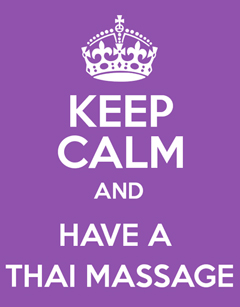 Thai Massage calms the nervous system